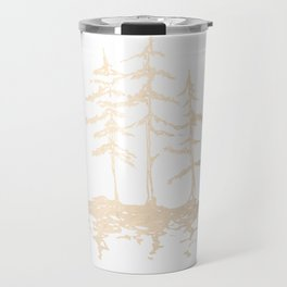 Three Sisters Forest White Gold Trees Travel Mug