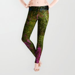 Alaskan Glacier & Fireweed Leggings