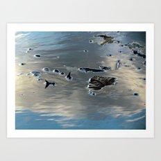 Drowning Leaves Art Print