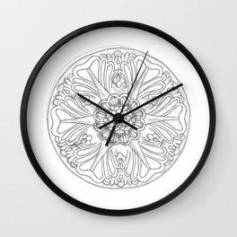Classic Ceiling Rose Wall Clock