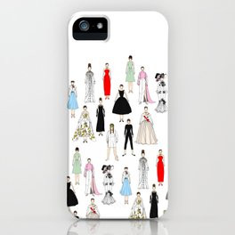 Audrey Fashion Whimsical Layout iPhone Case