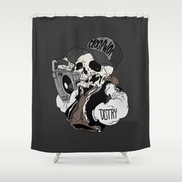 The Boombox Shower Curtain