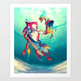 The Hero & the Prince Art Print