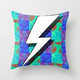 Lightning Bolt in Tropical Throw Pillow