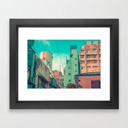 Manga City Framed Art Print