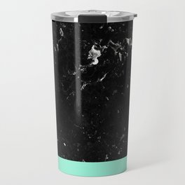 Mint Meets Black Marble #1 #decor #art #society6 Travel Mug