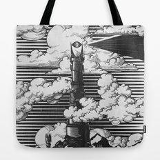 Lord of the Rings Mordor Tower Vintage Geek Art Tote Bag