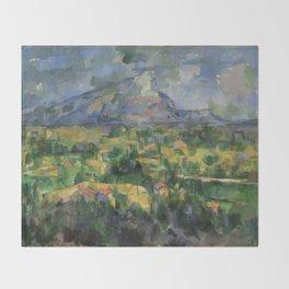 """Paul Cezanne """"Montagne Sainte-Victoire.Vue des Lauves"""" Throw Blanket"""