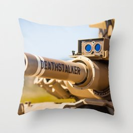 Death Stalker Tank Throw Pillow