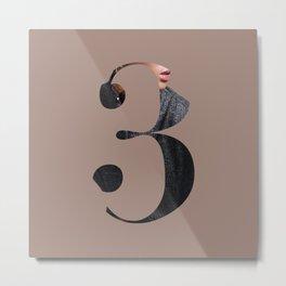 Fluttuo countdown numbers - three Metal Print