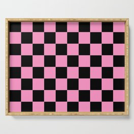 Damier 11 pink and black Serving Tray