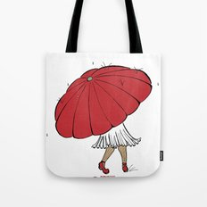 Raining Tote Bag