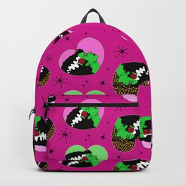 Bride of Frankie Hearts in Lipstick Pink Backpack