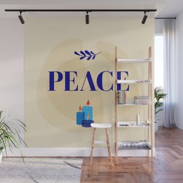 Peace lettering Wall Mural