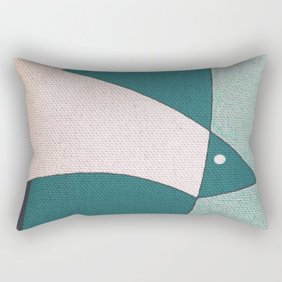 L'uccello in Volo Rectangular Pillow