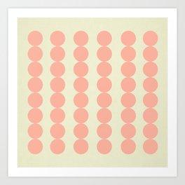 Coral Spots  Art Print