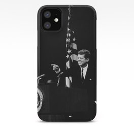 President Kennedy At Press Conference - 1962 iPhone Case