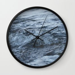 Stormy shore Wall Clock