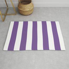 Dark lavender - solid color - white stripes pattern Rug