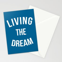 Living The Dream Quote Stationery Cards
