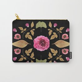 FLOWER COLLAGE N2 BLACK BACKGROUND Carry-All Pouch