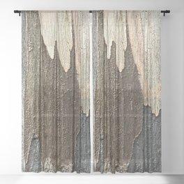 Eucalyptus Tree Bark and Wood Abstract Natural Texture 31 Sheer Curtain