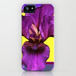 PURPLE IRIS  PATTERNS ART iPhone Case