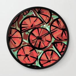 Candy Citrus Aqua Wall Clock