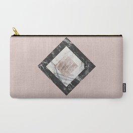 Pink Marble Carry-All Pouch