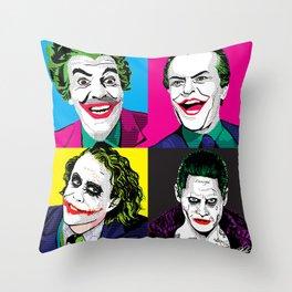 Pop Quad: The Joker Throw Pillow