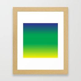 Blue+Yellow=Green Framed Art Print