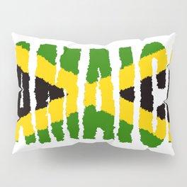 Jamaica Font with Jamaican Flag Pillow Sham