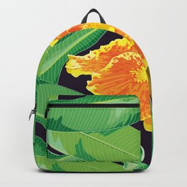 Yellow tropical flower Backpack