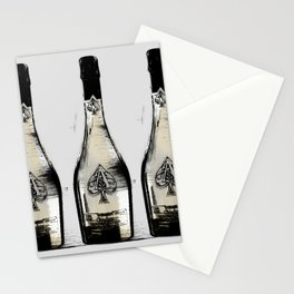 spade champagne Gold, illustration by miart Stationery Cards