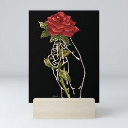 Rose Gilded Hands Watercolor Painting Series Dark Version Mini Art Print