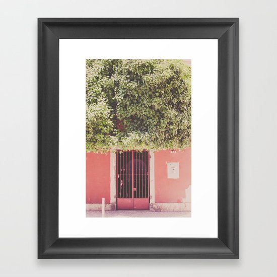 Behind the red door Framed Art Print