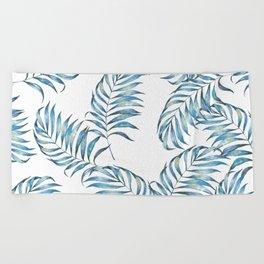 Blue Leaves Beach Towel