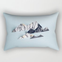 Paper mountains Rectangular Pillow