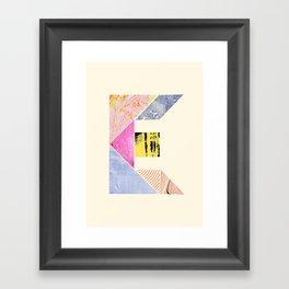 Collaged Tangram Alphabet - E Framed Art Print