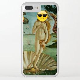 Venus Emoji Clear iPhone Case