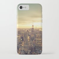 new york skyline iPhone & iPod Cases featuring New York Skyline Cityscape by Vivienne Gucwa