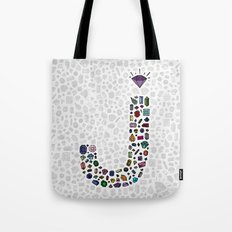 letter j - jewels Tote Bag
