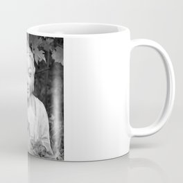 Buddha back and white Coffee Mug