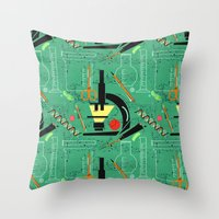 biology Throw Pillows featuring BIOLOGY by cecimonster