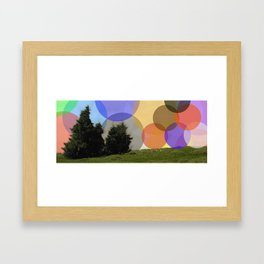Lonely Mountain Colour Framed Art Print