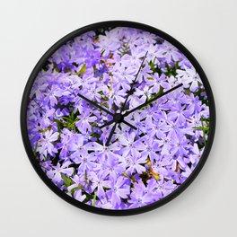 Purple Flowers | Lavender Flox | Pantone Purple | Spring Floral Wall Clock