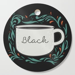 Black as my soul Cutting Board