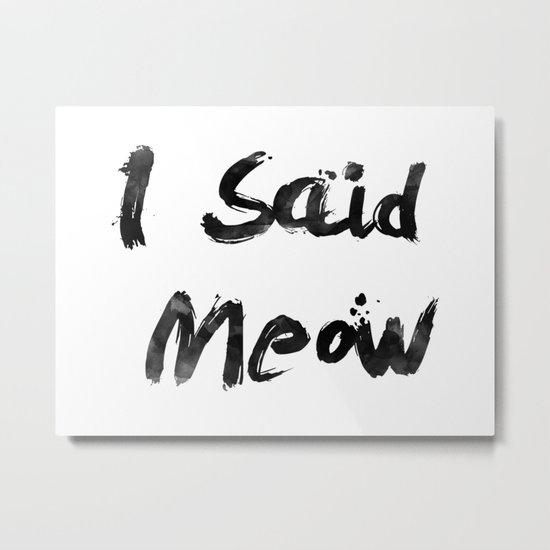 I Said Meow Metal Print