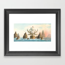 The Antlered Ship - Jacket Framed Art Print