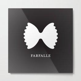 Pasta Series: Farfalle, Black Metal Print